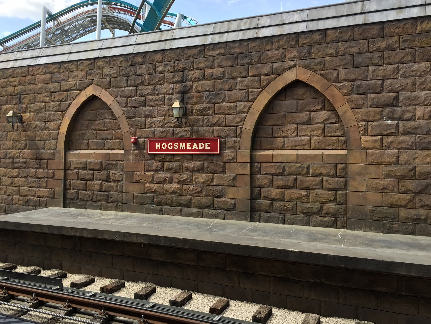Waiting for the Hogwarts Express at Hogsmeade Station