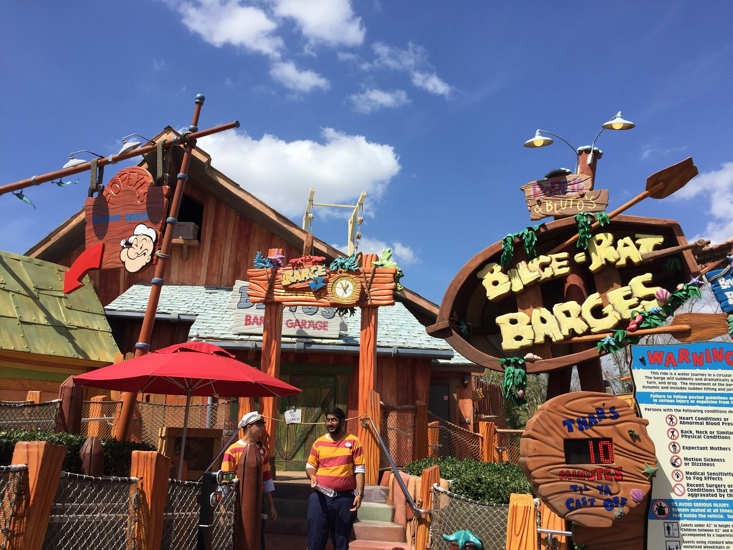 Popeye and Bluto's Bilge-Rat Barges Entrance