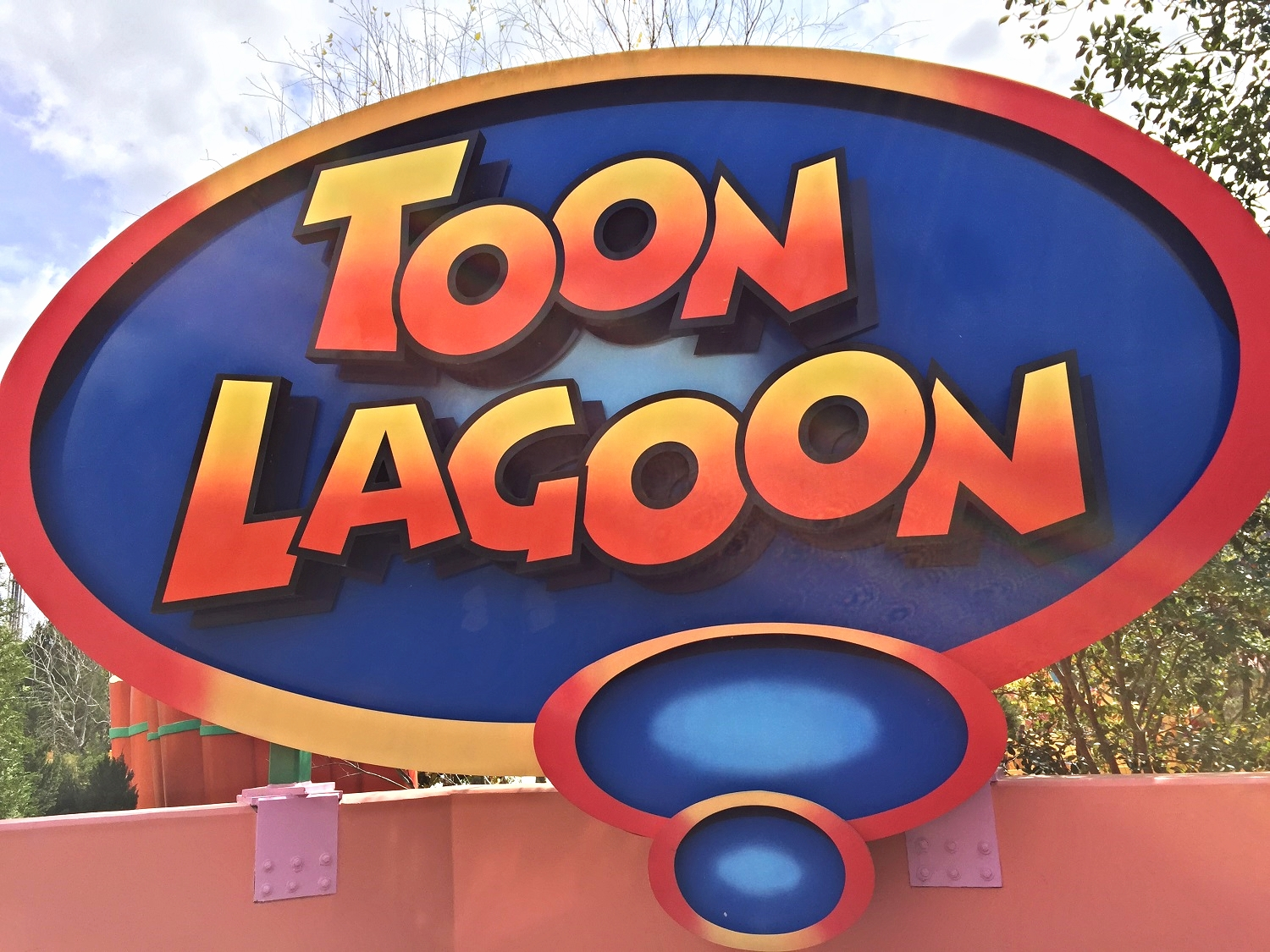 Sign Near the Entrance to Toon Lagoon