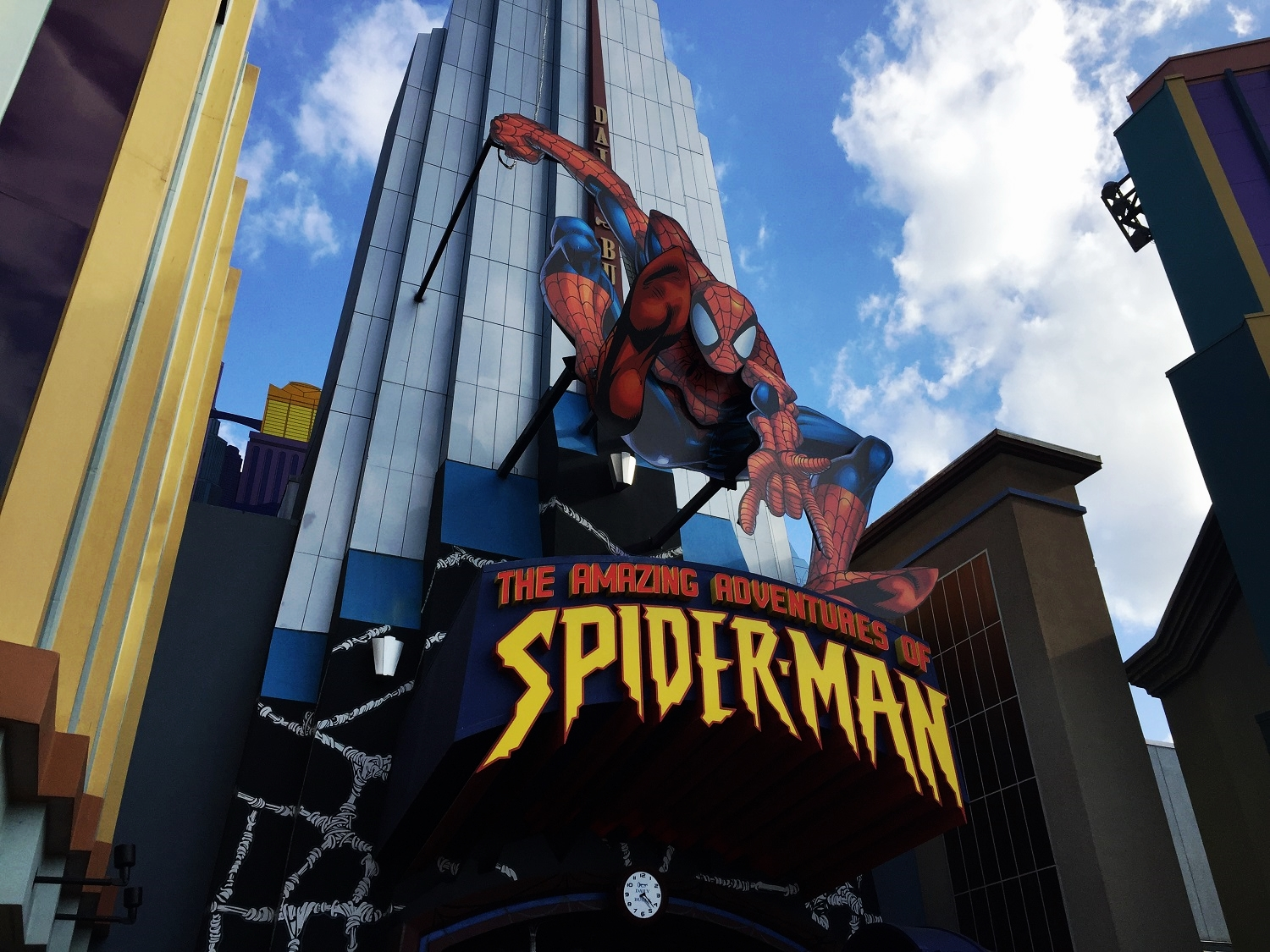 The Amazing Adventures of Spider-Man ride entrance.