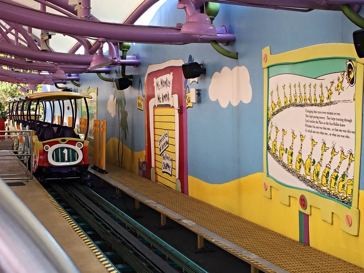 Ride Vehicle for High in the Sky Seuss Trolley Train Ride