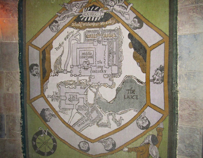 Map of Hogwarts in the Forbidden Journey Queue