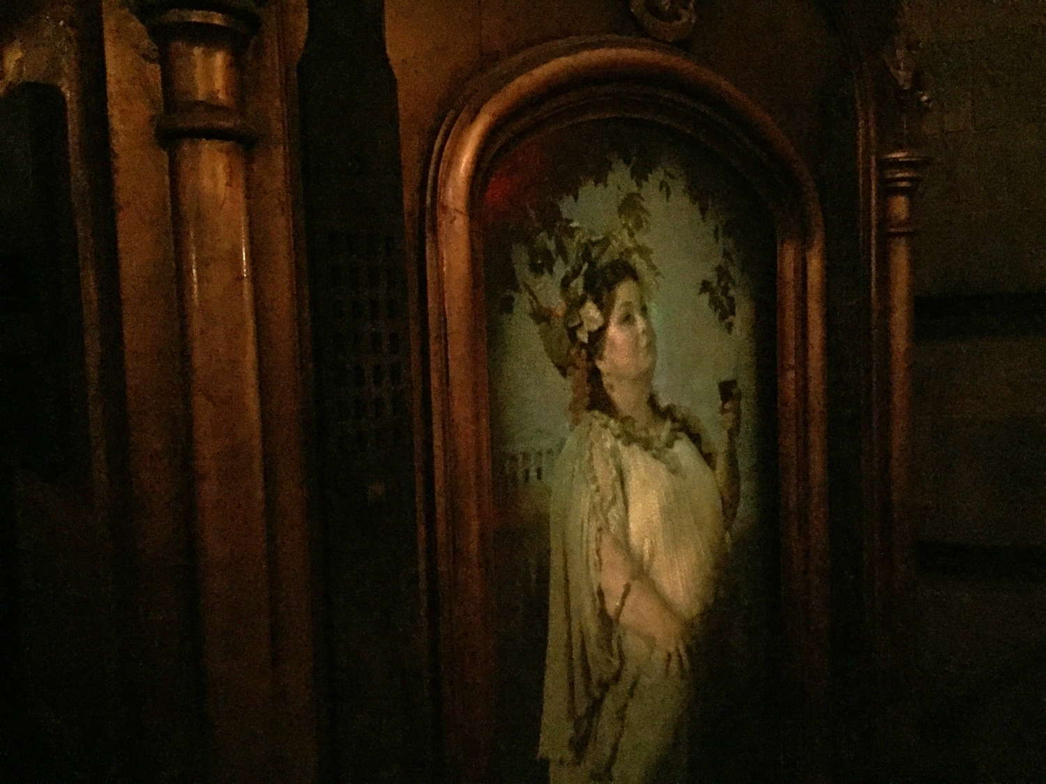 Portrait of the Fat Lady in Forbidden Journey Queue