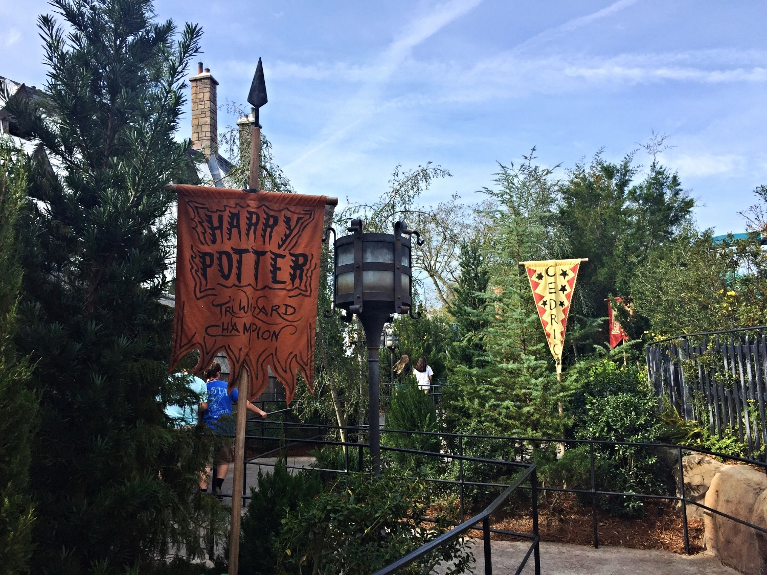 Banners Along the Queue for Dragon Challenge