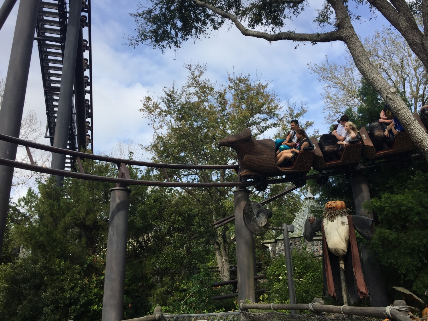 Flight of the Hippogriff Ride Vehicle Heading into a Left Turn