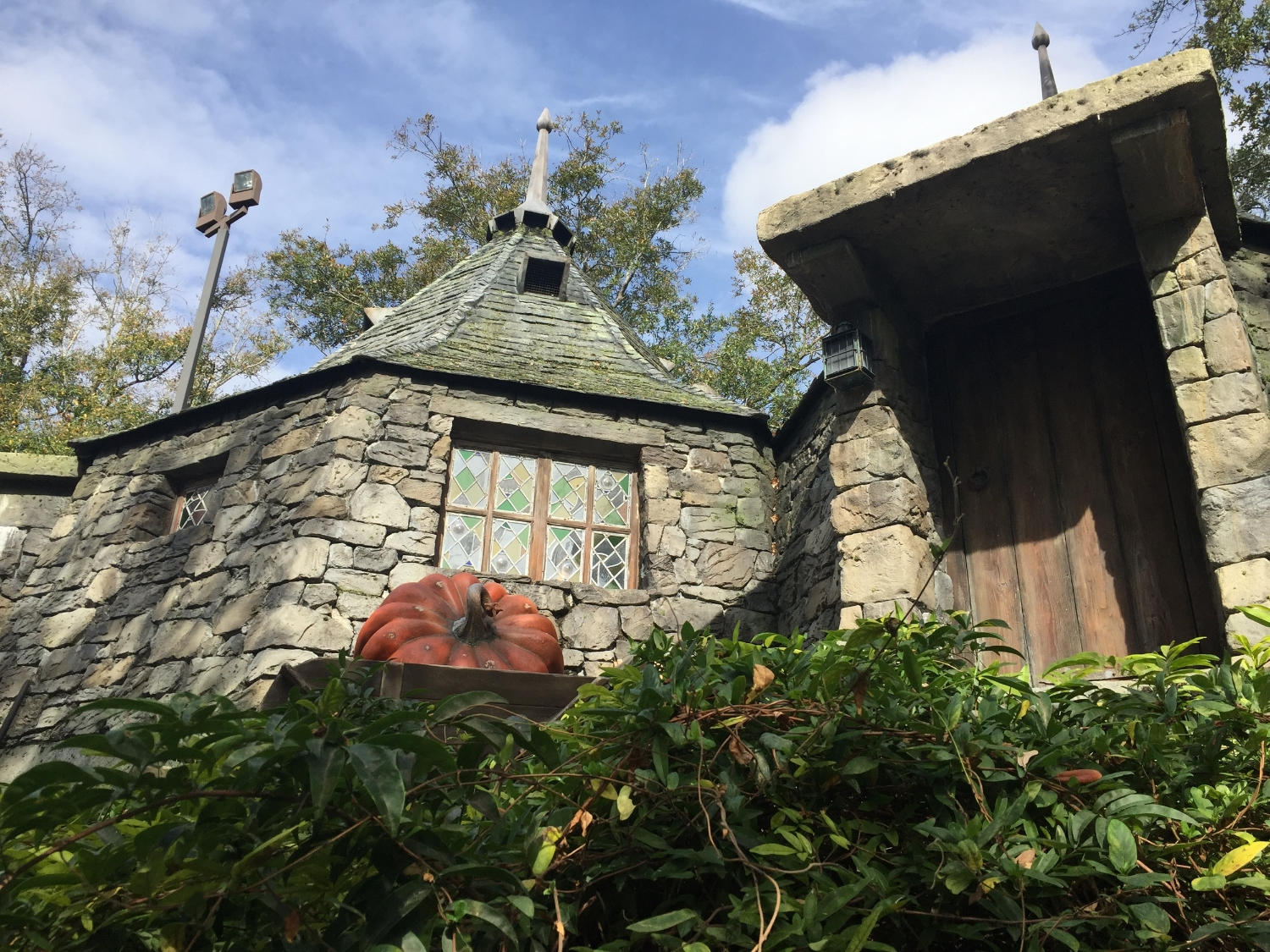 Big Pumpkin Outside Hagrid's Hut Near Flight of the Hippogriff