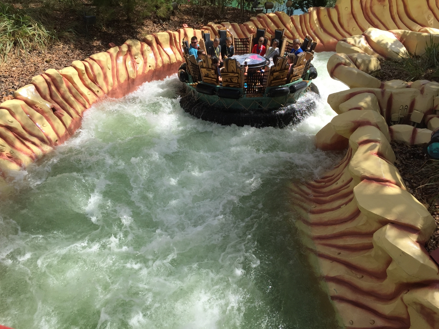 Floating Down the Raging River at Popeye and Bluto's Bilge-Rat Barges