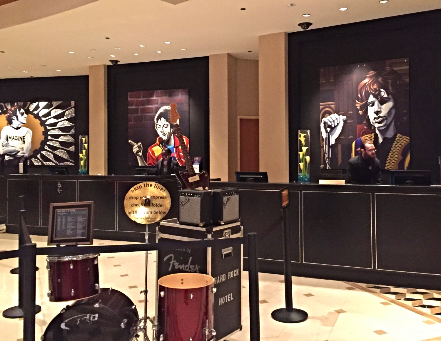 Hard Rock Hotel Front Desk