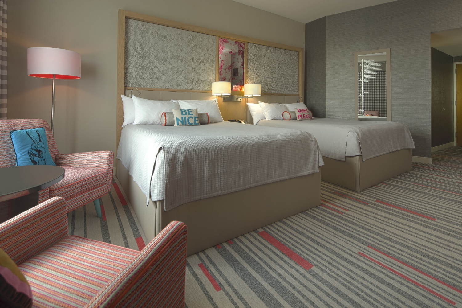 Hard Rock Hotel standard room. Image credit: Universal Orlando Resort.