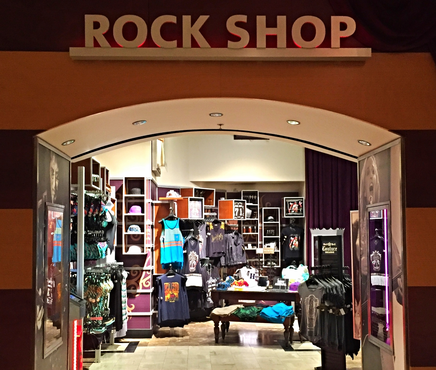 The Rock Shop in the Hard Rock Hotel.