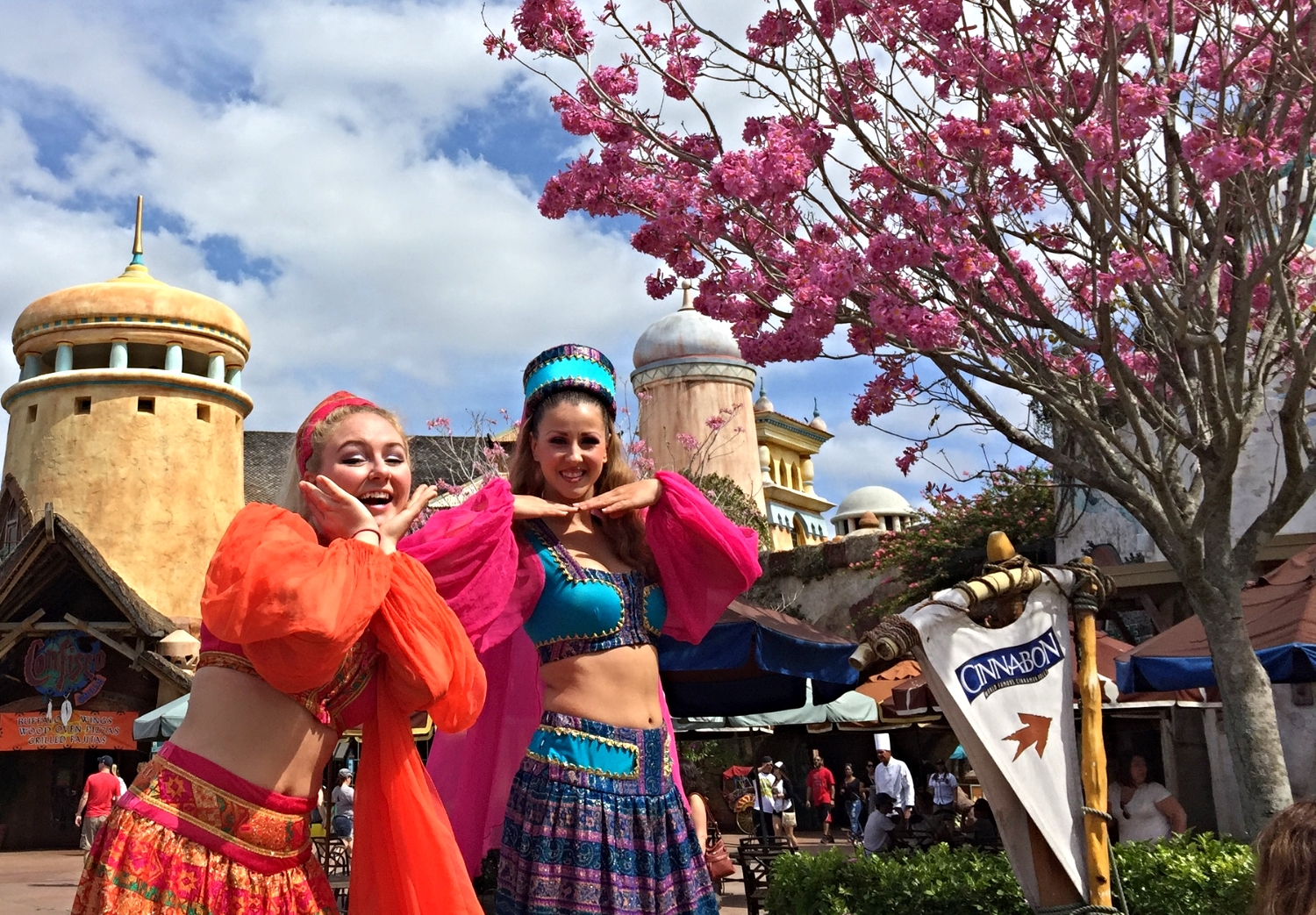 Characters in Port of Entry in Islands of Adventure.