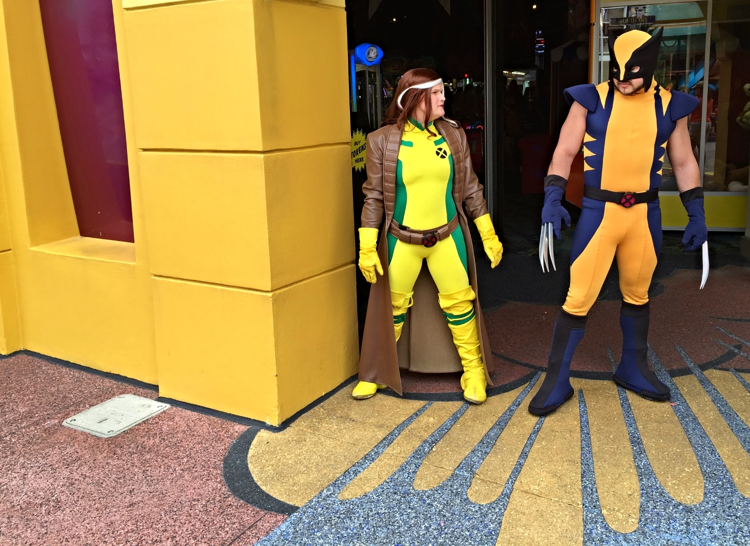 Rogue and Wolverine in Marvel Super Hero Island