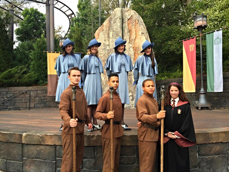 Tri-Wizard Spirit Rally in Hogsmeade