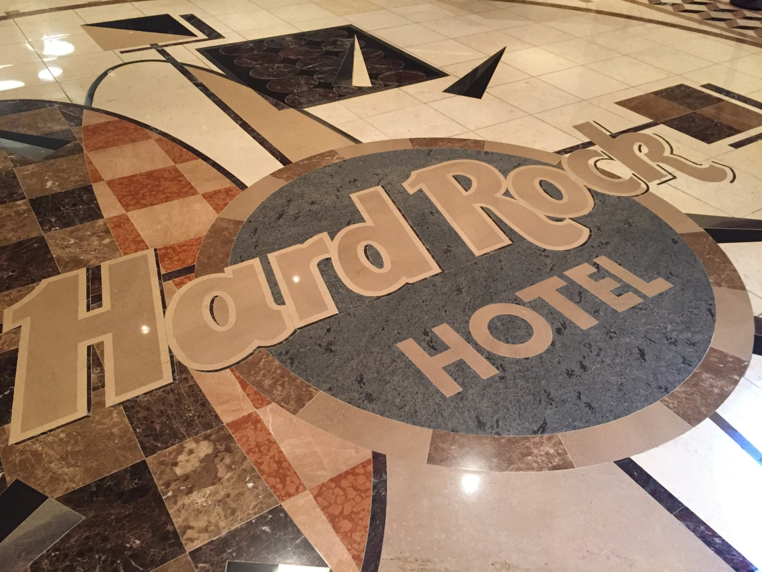 Hard Rock Hotel Logo on Entrance Floor