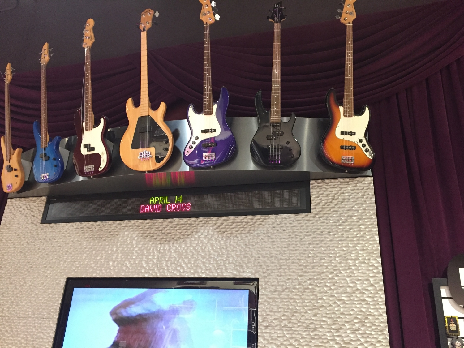 Guitars on Display at Rock Shop in Hard Rock Hotel Orlando
