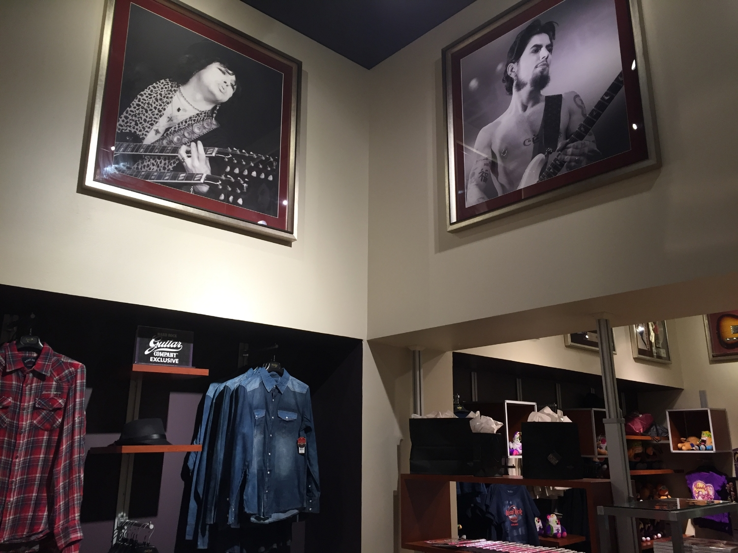 Music Memorabilia Adorns the Walls at Rock Shop in Hard Rock Hotel Orlando