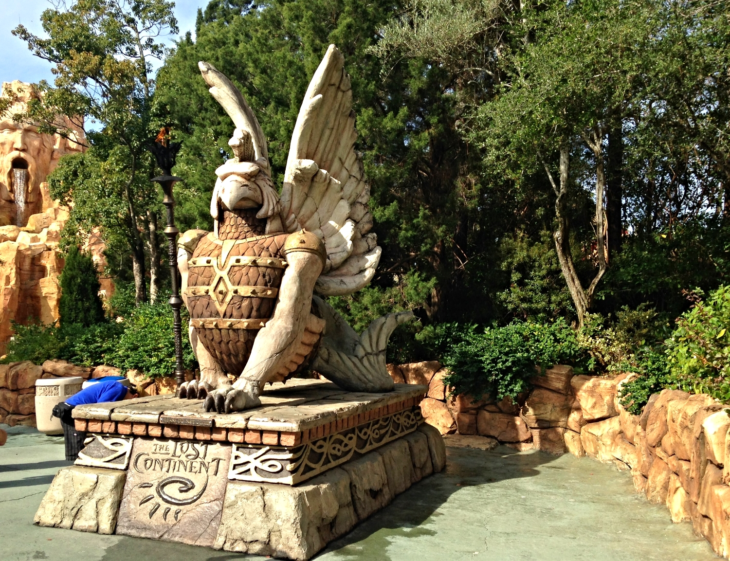 The Lost Continent statue in Islands of Adventure.