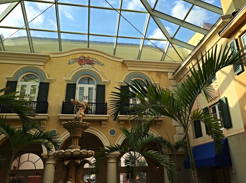 Loews Portofino Bay Resort Interior Courtyard