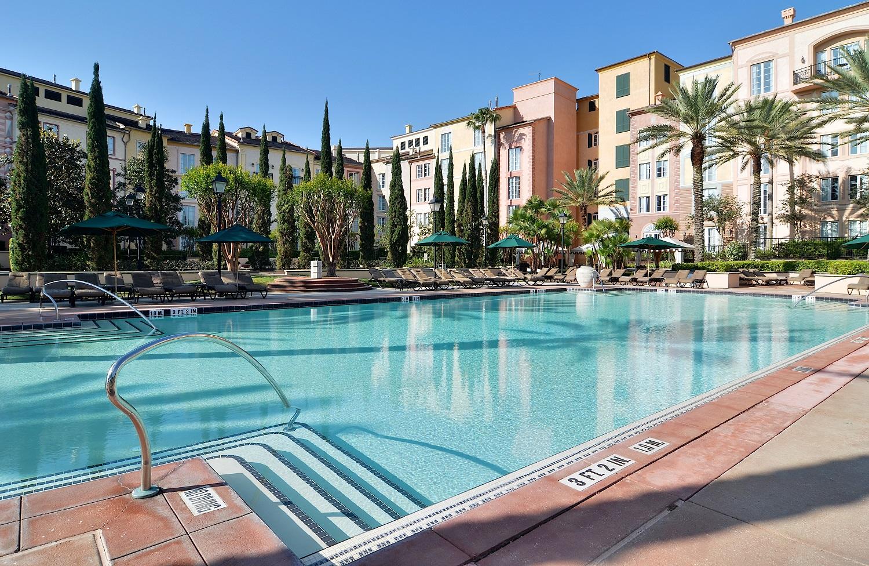 Loews Portofino Bay Resort Villa Pool. Image credit: Loews Hotels.