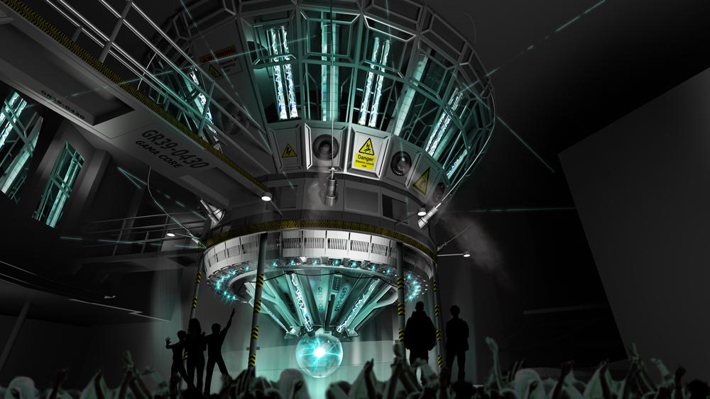 Gamma core concept art. Image credit: Universal Orlando Resort.