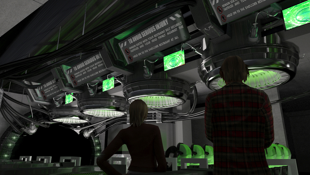 More concept art from the  The Incredible Hulk Coaster queue. Image credit: Universal Orlando Resort.