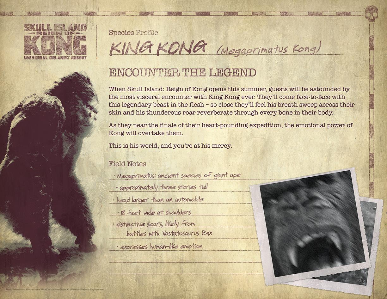 King Kong Species Profile
