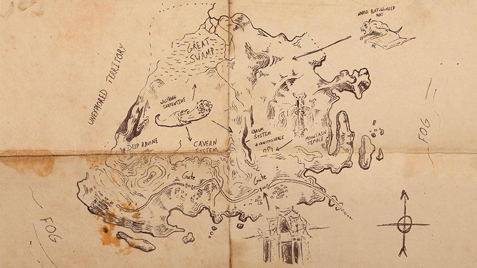 Skull Island Sailor's Map