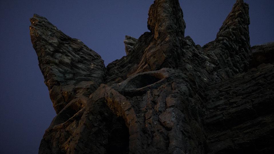 Close-up of Kong Tower