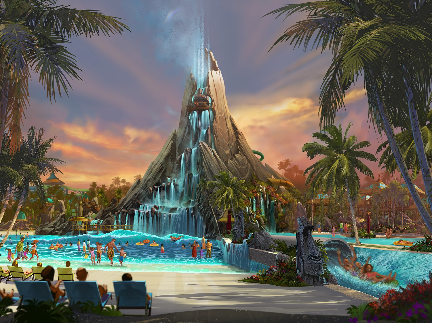 Learn about all of the attractions at Universal's Volcano Bay Water Theme Park.