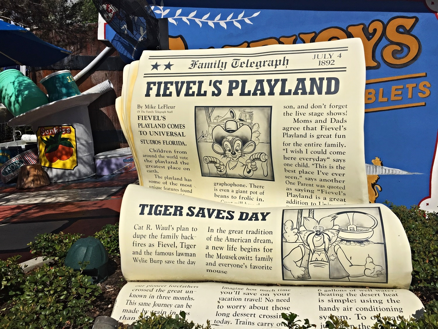 Learn about all of the features of Fievel's Playland in Universal Studios Florida.