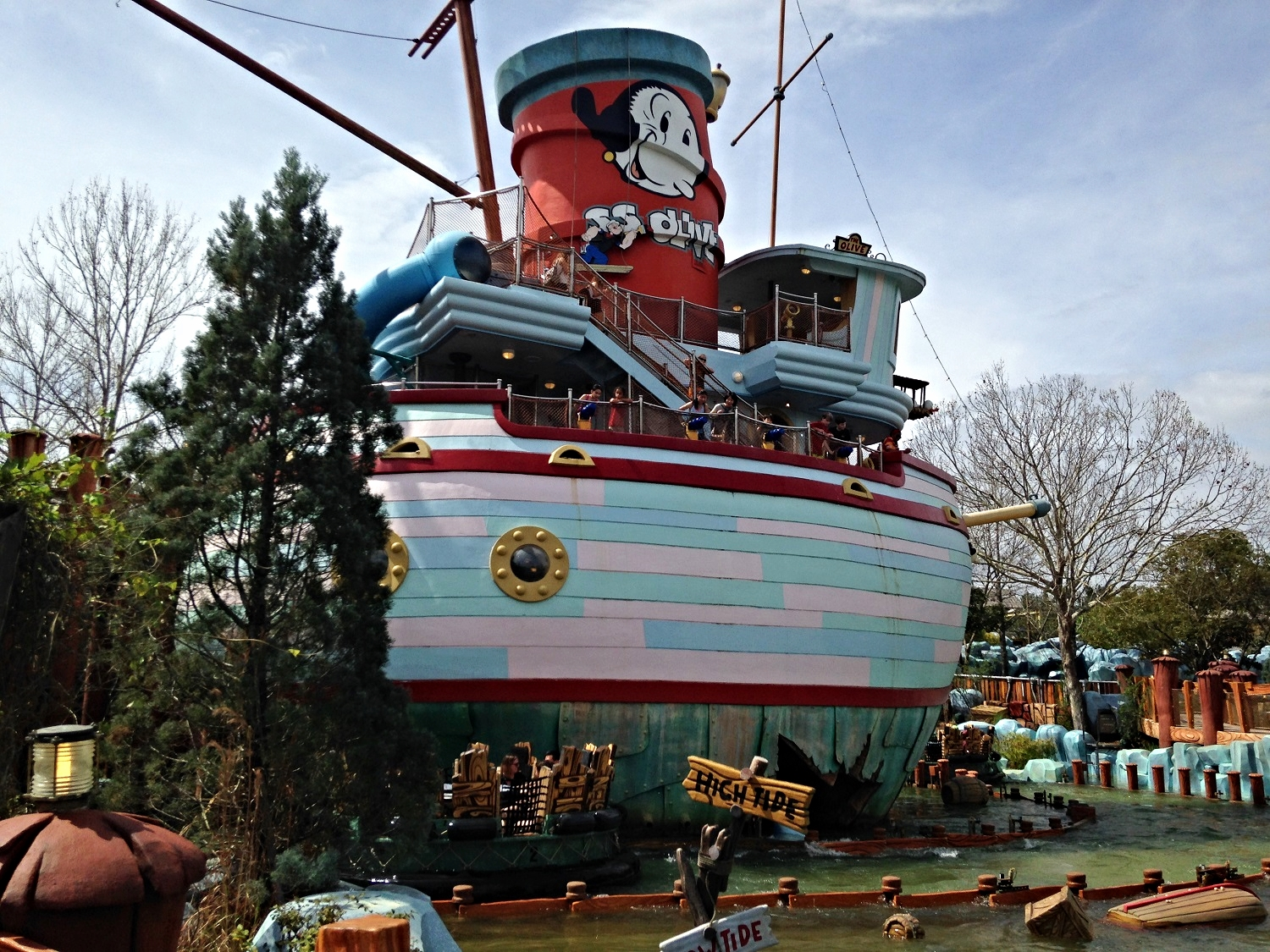 Learn about all of the interactive features on Me Ship, The Olive in Islands of Adventure.