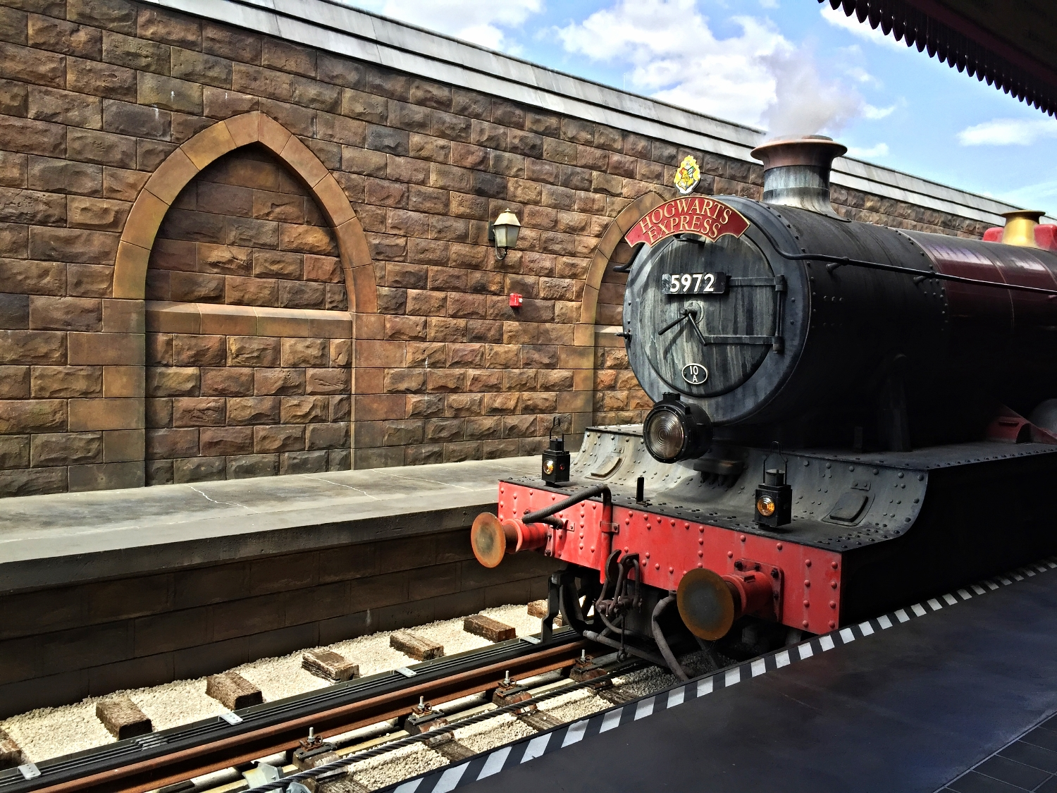 Learn about the Hogwarts Express train that takes guests from Hogsmeade Station to   King's Cross Station in London.