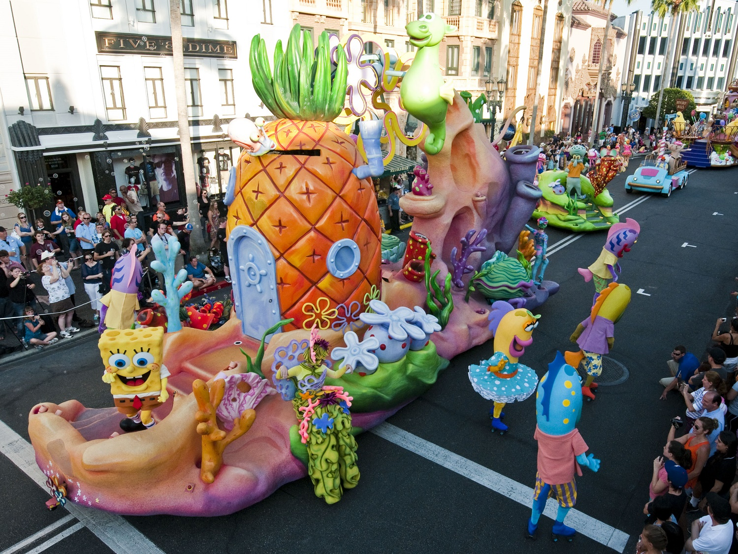 Universal's Superstar Parade is a daily parade of characters and floats that makes its way through the streets of Universal Studios Florida.