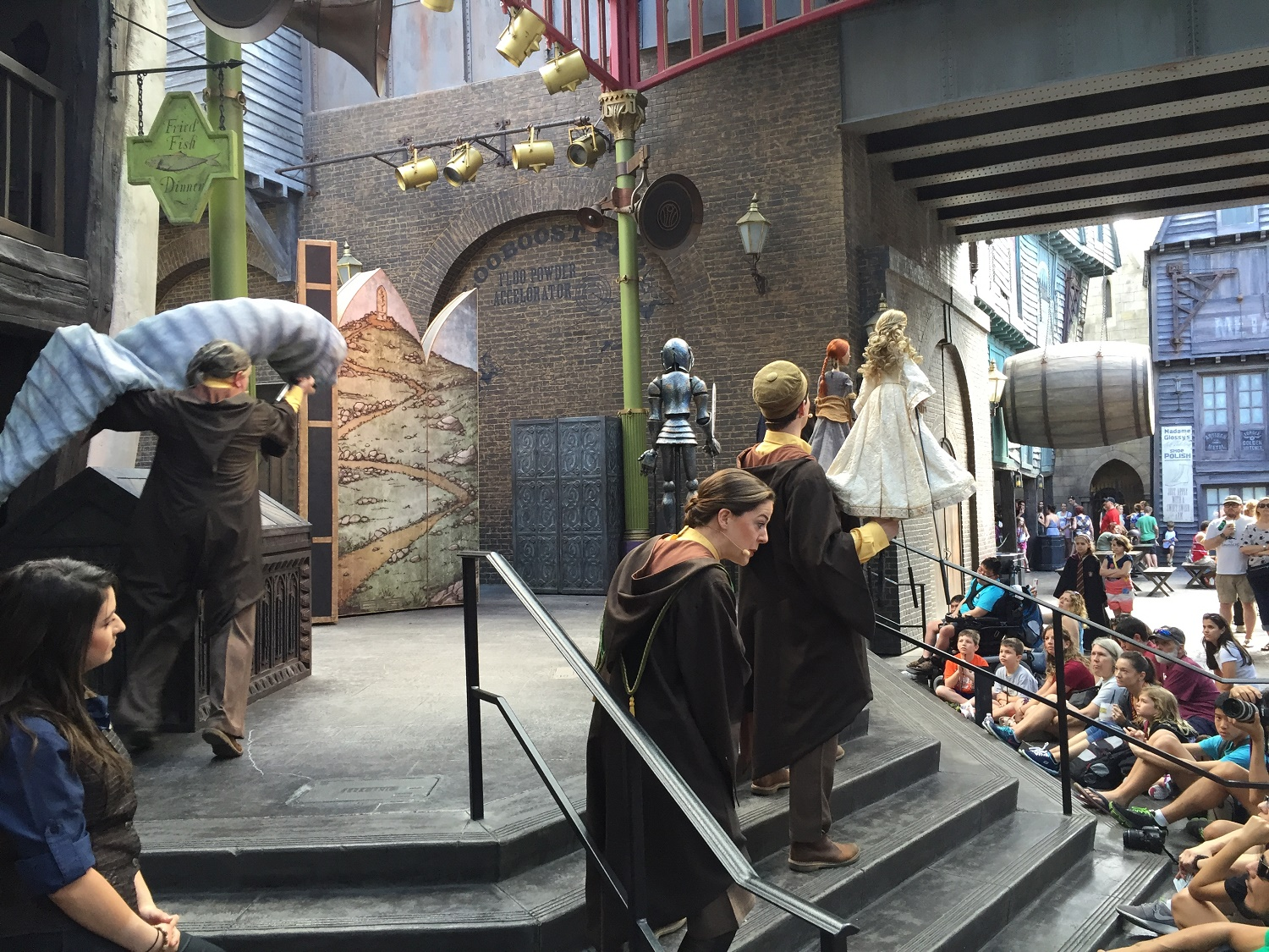 The Tales of Beedle the Bard is a live stage show featuring puppets and a story from The Tales of Beedle the Bard by JK Rowling.