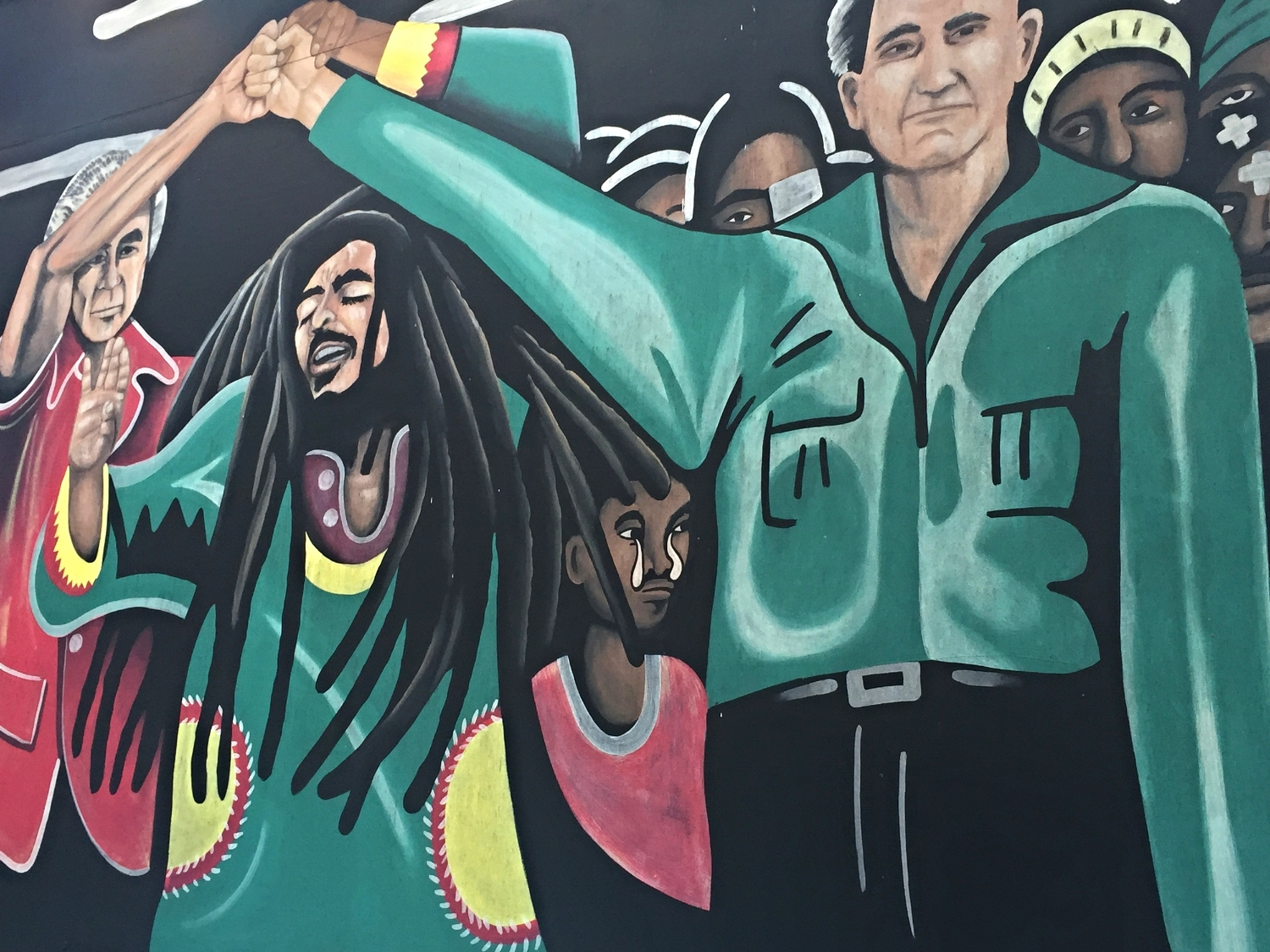 Mural Close Up at Bob Marley A Tribute to Freedom