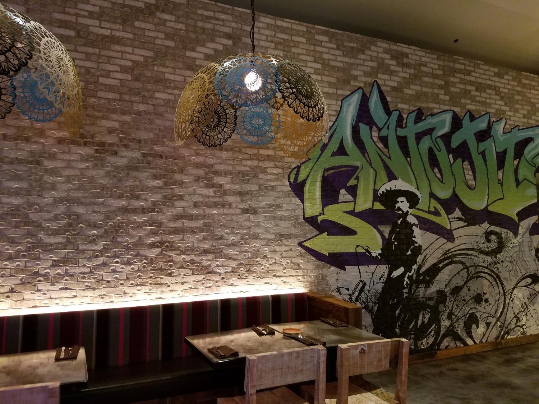 Graffiti Wall Decoration at Antojitos