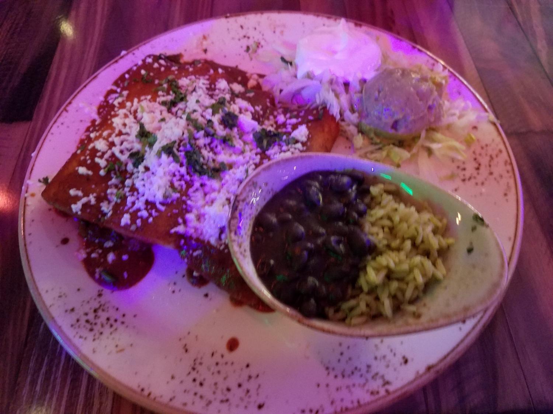 Mole Enchiladas at Antojitos