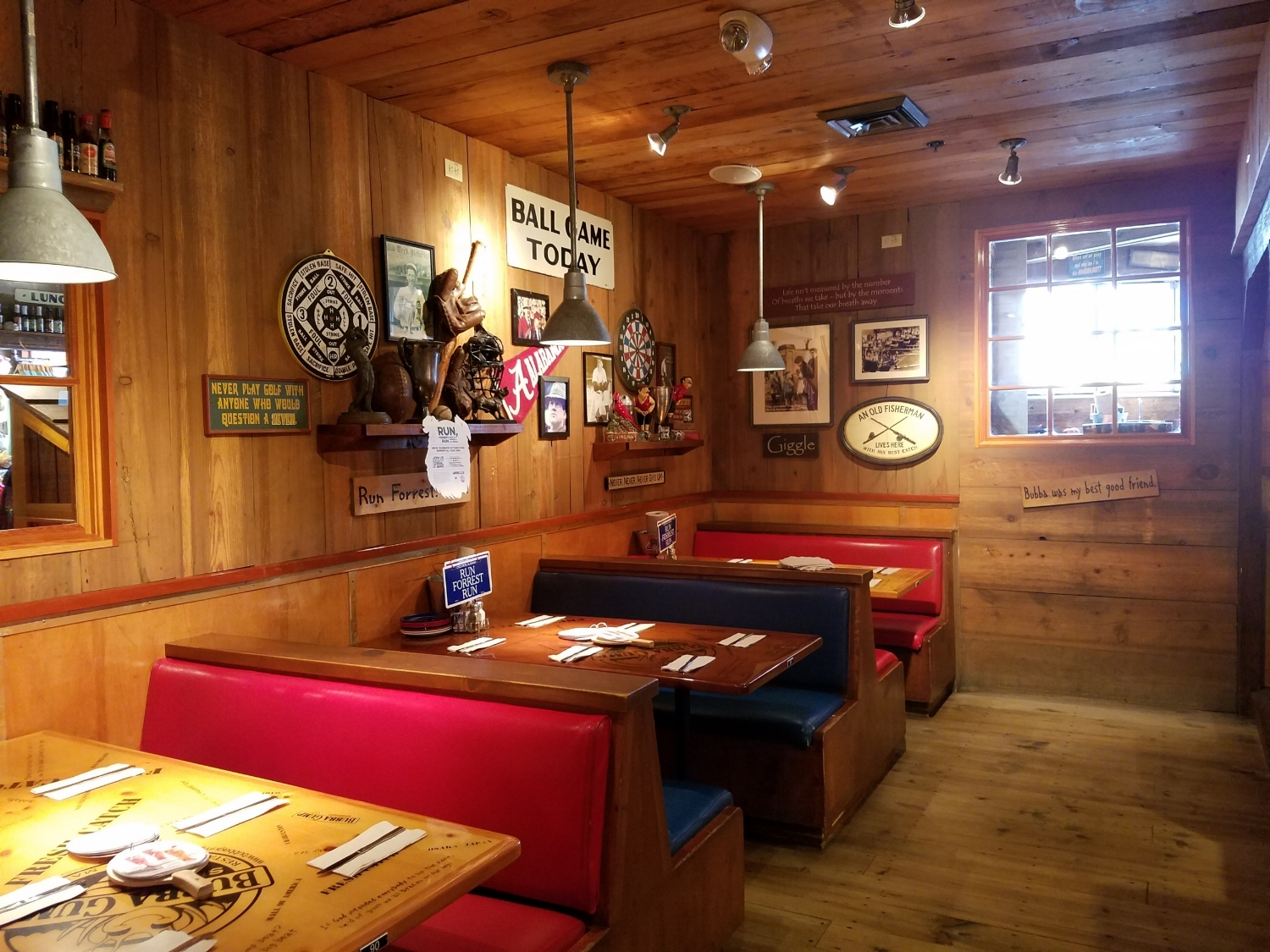 Booth Seating at Bubba Gump