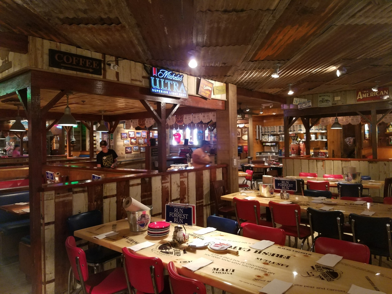 Tables for Larger Groups of Visitors at Bubba Gump Shrimp Co.