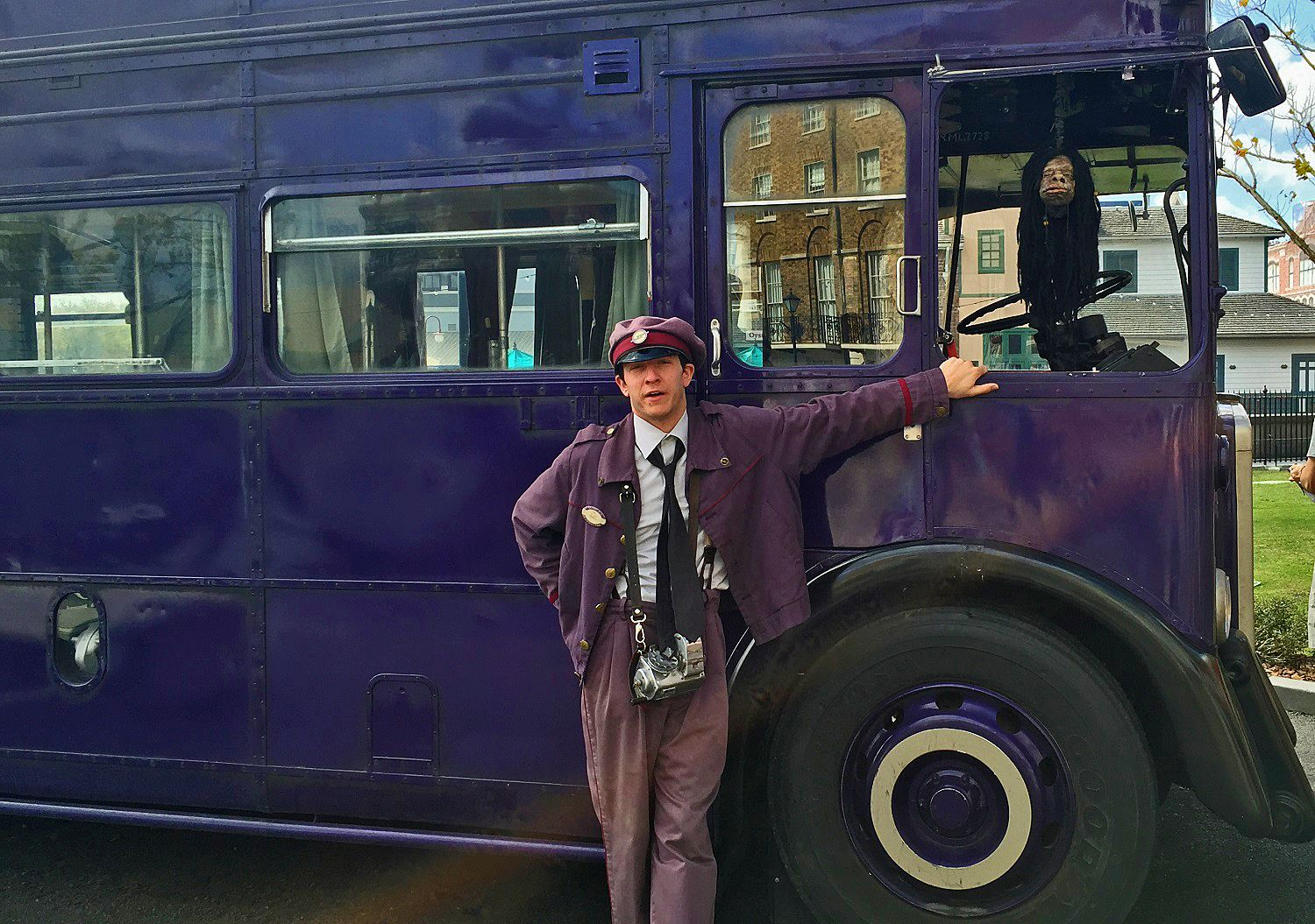 Be sure to interact with the Knight Bus Conductor and the Shrunken Head.