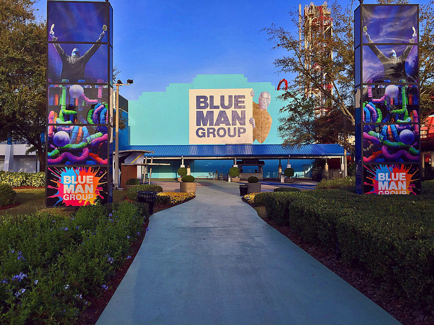 The path leading to the Blue Man Group Theatre.