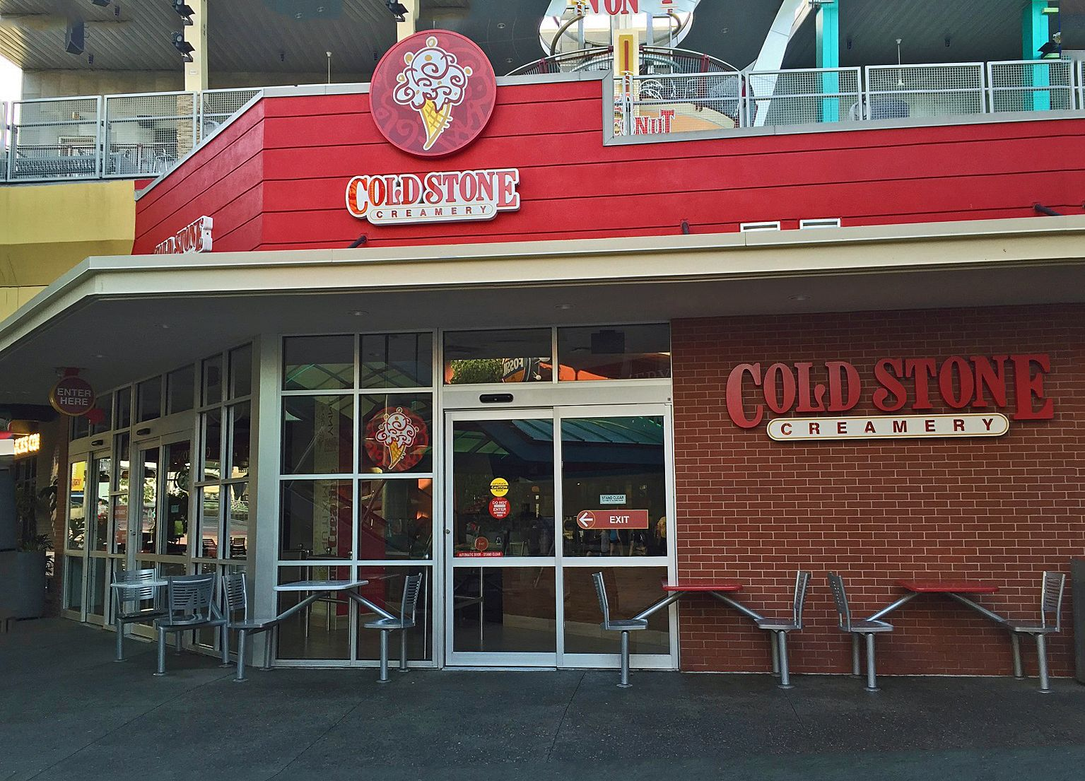 Cold Stone Creamery is on the lower of level of Universal CityWalk Orlando.