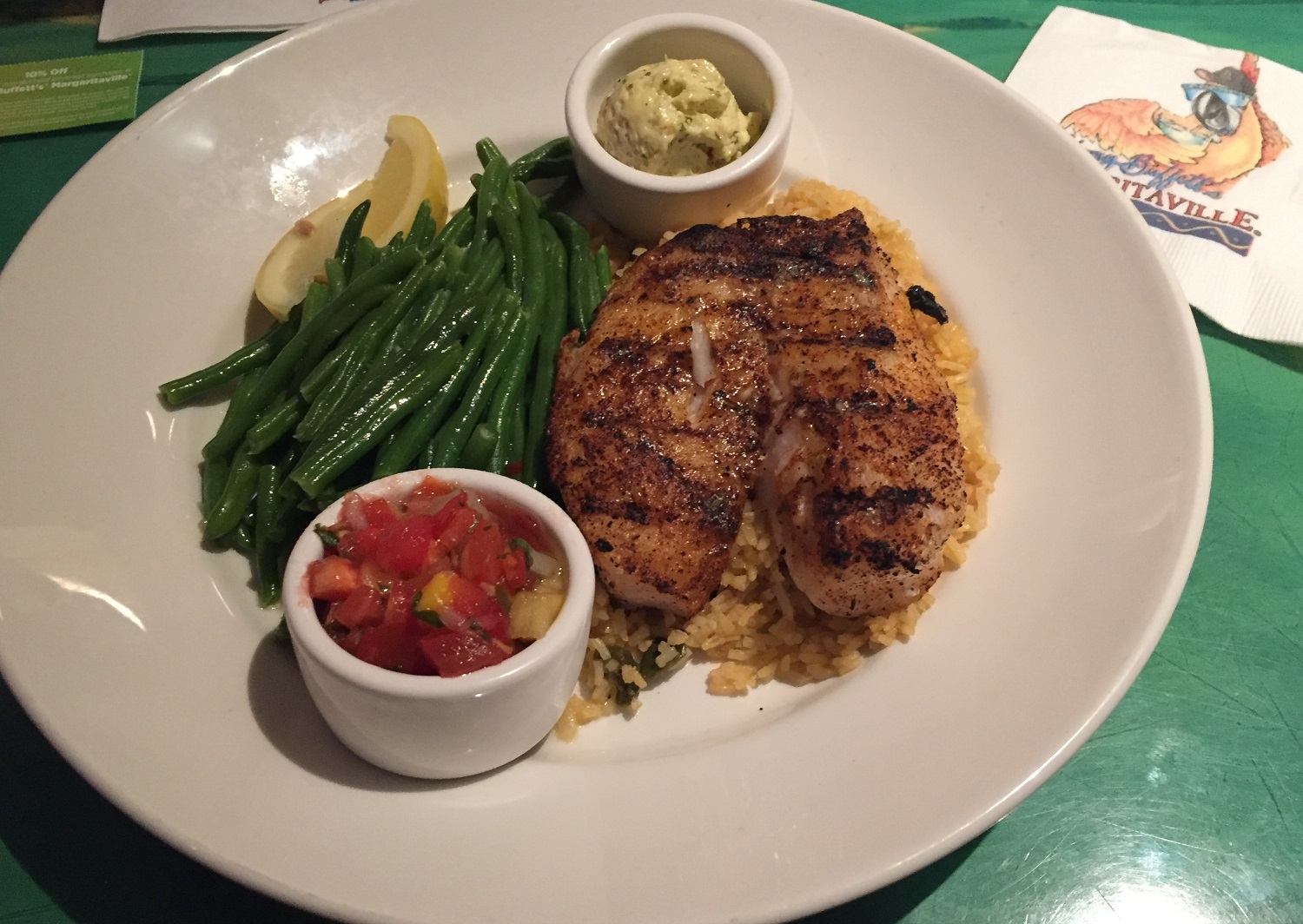 Fresh Florida Grouper at Jimmy Buffet Margaritaville