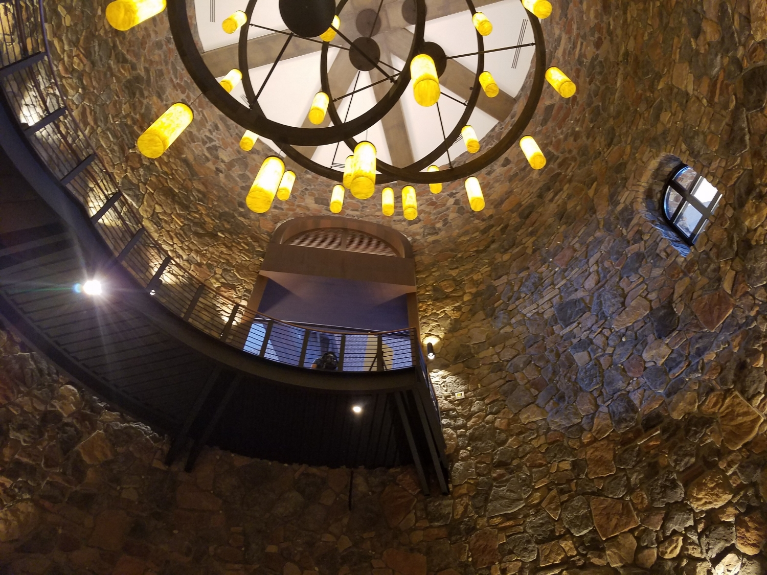 Top of Spiral Staircase Leading to Lower Level of Loews Sapphire Falls Resort