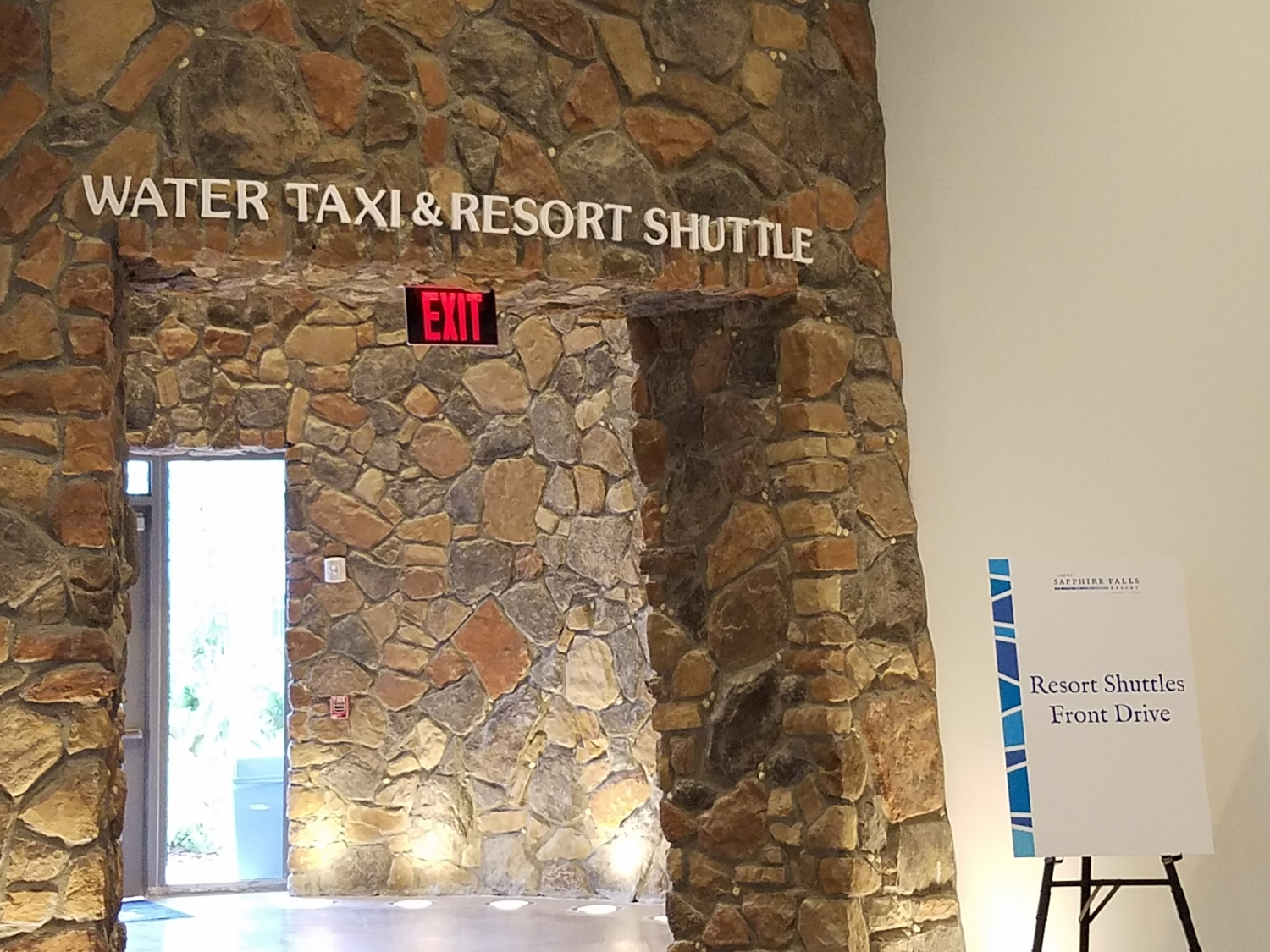 Water Taxi/Resort Shuttle Entrance/Exit at Loews Sapphire Falls Resort
