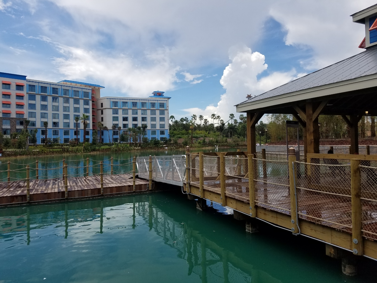 Empty Water Taxi Dock at Loews Sapphire Falls Resort