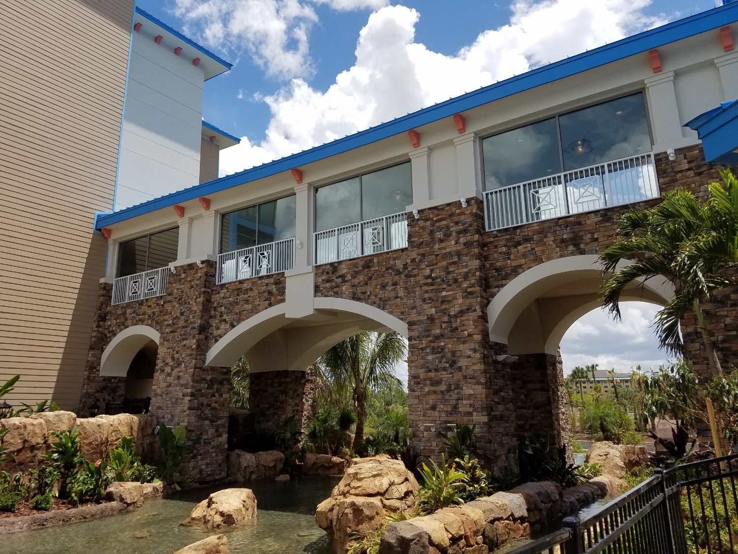 Walkway to Guest House 2 at Loews Sapphire Falls Resort