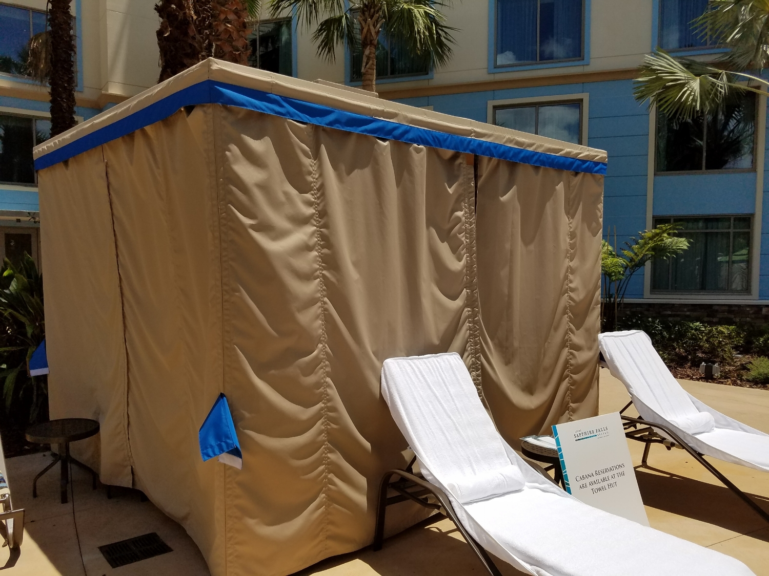 Cabana Available for Rent at Loews Sapphire Falls Resort