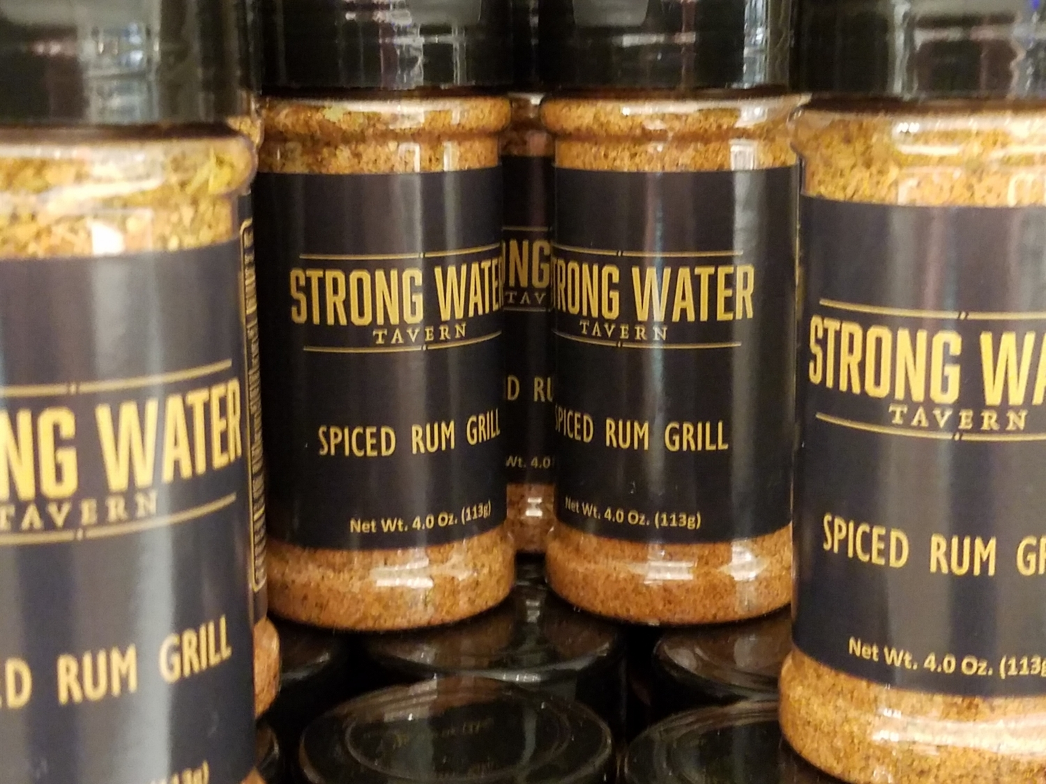 Strong Water Tavern Spiced Rum Grill Seasoning Available at New Dutch Trading Co.