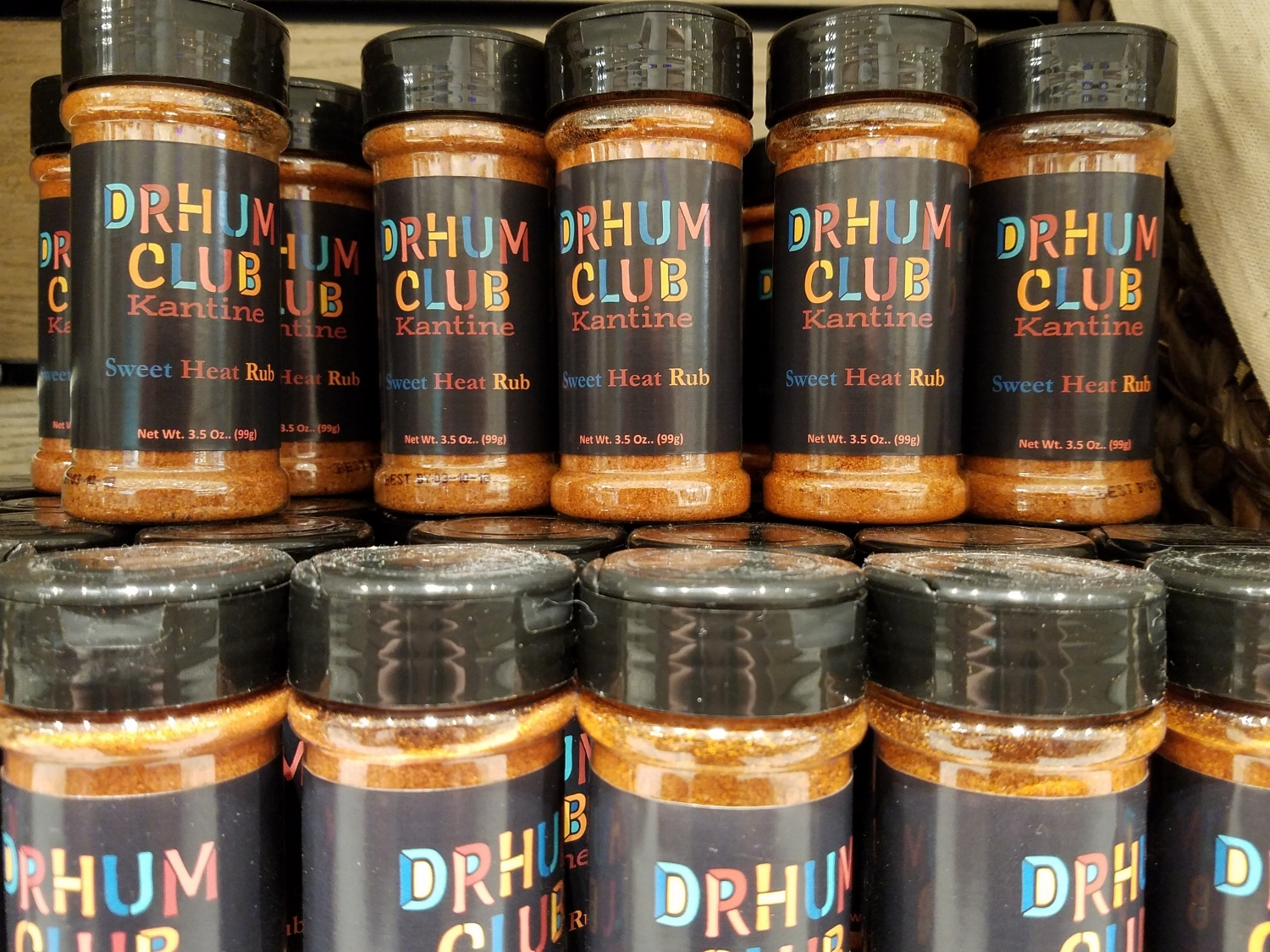 Drhum Club Kantine Sweet Heat Rub Available at New Dutch Trading Co.